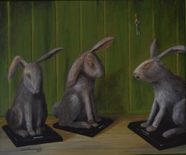 Kaniner/Ur Ursulas samlingar  Akryl